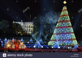President Obama Christmas Tree Lighting The National Christmas Tree Is In Full Illumination With The