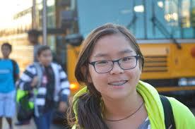 Asian braces bus stop