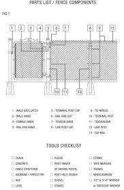 chain link fence parts. Chain Link Fence Parts Diagram Mm Install Fig 1 Expert Capture How Put Up A Best