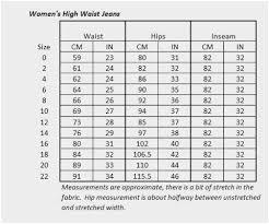 Jeans Size Chart 57 Complete Denizen Jeans Size Chart