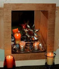 picture of turning an unused fireplace into a candle nook