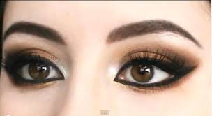 arabic makeup smokey brown eyes tutorial bronzy eye