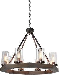 artcraft ac10548bu jasper park modern bronze chandelier light loading zoom