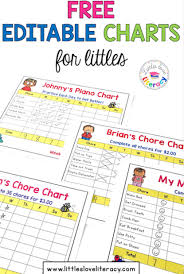 Editable Bedtime Routine Chart Editable Charts For Littles Bedtime Routine Chart Chore