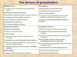 drivers of globalisation essays drivers and impacts in the  drivers of globalisation essays