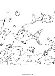 Disegni Estate Per Bambini Da Colorare Gratis Con Pesce Disegno Per