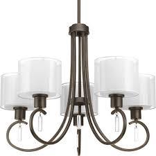 progress lighting p4696 20 invite 5 light chandelier in antique bronze