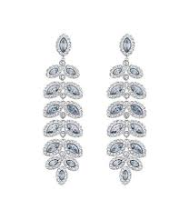 swarovski baron crystal pav chandelier statement earrings
