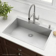 stainless steel drop in sink. Modren Stainless ZeroRadius 33Inch Handmade Topmount Single Bowl 16 Gauge Stainless Steel  Drop Throughout Drop In Sink