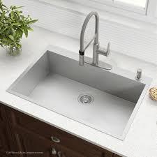 zero radius 33 inch handmade topmount single bowl 16 gauge stainless steel drop