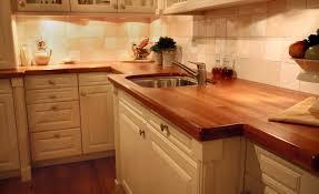 simple traditional kitchen design laminate butcher block countertops beige travertine tile backsplash cau