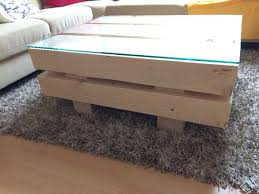 coffee table made of spruce solid wood