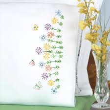 Flower Designs For Pillow Cases Field Of Flowers Pillowcases