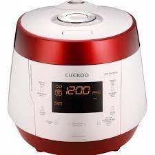 Nồi cơm áp suất điện tử 1,8L Cuckoo CRP-PK1000S đỏ trắng-Korean