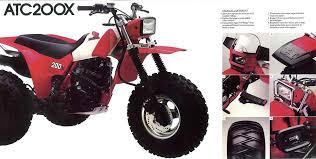 honda atc atv 3 wheeler quad trx fl odyssey pilot nos oem 1983 honda atc200x brochure