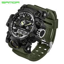 SANDA 742 Military <b>Men's Watches Top Luxury</b> Brand Waterproof ...