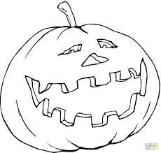 Small Picture Smiling Pumpkin coloring page Free Printable Coloring Pages