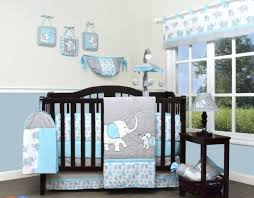 grey nursery bedding uk gray sets baby cot blue crib with elephants set for boys piece room awesome s