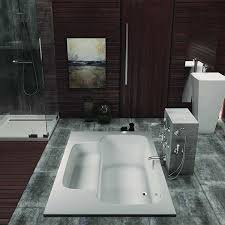 Image Design Ideas Americh Bahia Tub Shown Installed In Bathroom Plumbingsupplycom Relaxing Bahia Tub With Builtin Seat By Americh