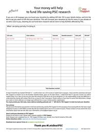 sponsorship forms for fundraising how will you collect sponsorship money psc support