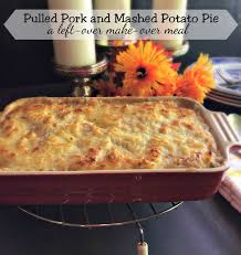 Mix together a half a stick of melted butter, two cups of corn flakes and ½ cup parmesan cheese. Pulled Pork And Mashed Potato Pie