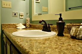 Painted Bathroom Countertops Painting The Counter Faux Granite Mrs Bombcom