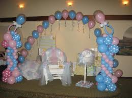 baby showers balloons ideas | Decor Galore - Balloon Decorations for pink &  blue baby shower