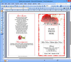 Microsoft Publisher Program Template Funeral Program Template Microsoft Publisher Memorial Ms