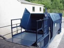 How Does A Trash Compactor Work Sebright Products Model Sc 4064 Self Contained Compactor With Walk