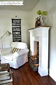 faux fireplace surround ideas create a faux fire look use a crate or make a box