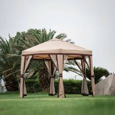 big hexagonal garden gazebo mosquito netting mesh curtain outdoor patio canopy