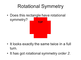 Rotational Symmetry Does this rectangle have rotational symmetry