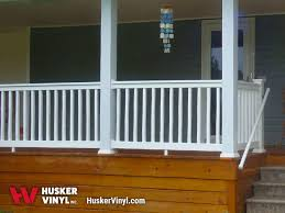 vinyl porch deck railing husker vinyl inc