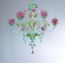 italian murano glass flower chandelier