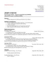 Resume Examples For Oil Field Job Brilliant Ideas Of Welder Resume Sample Objective Simple Certified 63