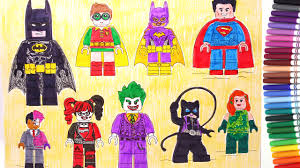 There are several games, including mario harley quinn from the lego batman movie coloring page from the lego batman movie category. The Lego Batman Movie Batman Robin Superman Batgirl Harley Quinn Joker Coloring Pages Youtube