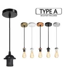 e27 retro vintage edison pendant lighting bulb lamp holder base socket home
