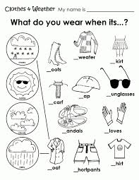 262fbdc30081f16f9cb4050e87b035d9 free coloring pages of clothing worksheet weather coloring sheets on kindergarten printable worksheets