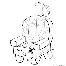 Garden Chair And Bird Shopkins Season 5 Coloring Pages Printable