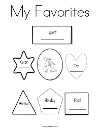 Small Picture All About Me Coloring Page Favorites Coloring Home