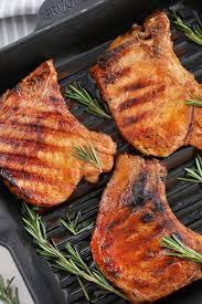 easy grilled pork chops recipe sweet