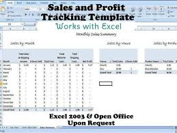 Invoice Template Excel 2003 Profit Tracker Sales Tracking Template For Multiple