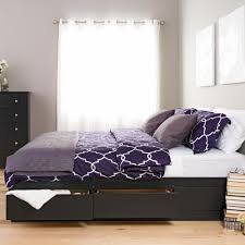 Prepac Sonoma King Wood Storage Bed BBK 8400 K The Home Depot Black Prepac  Beds Headboards