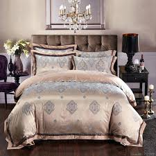 silk bed linen satin jacquard gold red purple pink blue bedding set bedclothes bedspread queen king