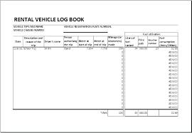 Car Log Book Template Log Book Template Download Car Excel Car Log