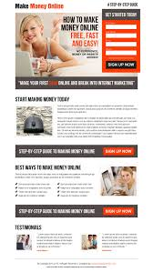 high converting makes money online landing page design  make money online sign up generating landing page design