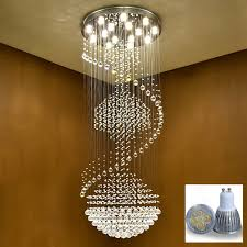 vallkin luxury modern large big stair long spiral crystal font b chandeliers b font lighting fixture