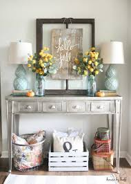 how to decorate entryway table. DIY Sign For Fall - House By Hoff How To Decorate Entryway Table A