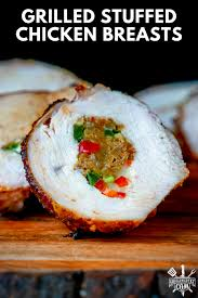In a skillet, saute onion and celery in butter until soft; Stuffed Chicken Breasts On The Grill Grilling 24x7