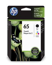 Hp 65 2 Ink Cartridges Black Tri Color N9k01an N9k02an